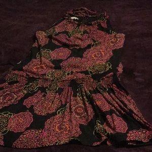 Colorful Drop Waist Dress.
